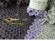 loop yarn rib stitch blanket