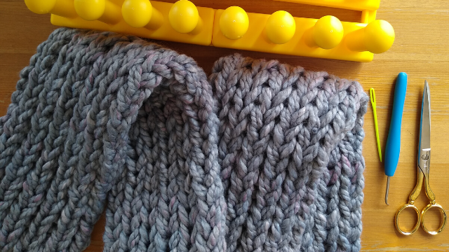 stockinette scarf