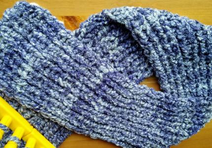 zig zag stitch scarf